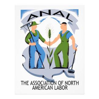 """""""Manos a través de América""""--¡Los trabajadores une Membrete Personalizado"""