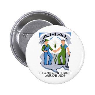 """""""Manos a través de América""""--¡Los trabajadores une Pin Redondo 5 Cm"""