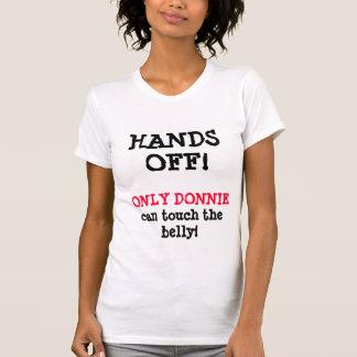 ¡MANOS APAGADO! SOLAMENTE camiseta de la Poleras