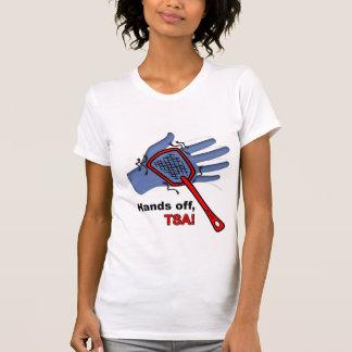 ¡Manos apagado, TSA! Hembra de la camiseta Poleras