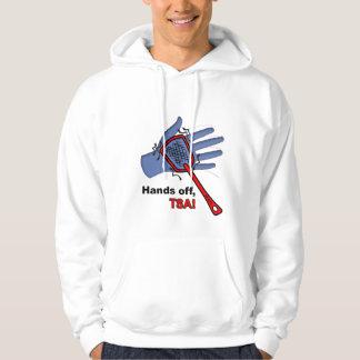 ¡Manos apagado, TSA! Sudadera con capucha de la