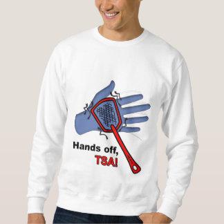¡Manos apagado, TSA! Varón de la camiseta Sudadera