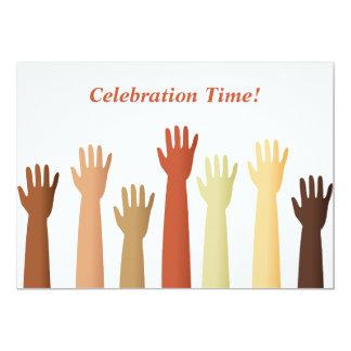 ¡Manos aumentadas, tiempo de la celebración! Invitacion Personalizada