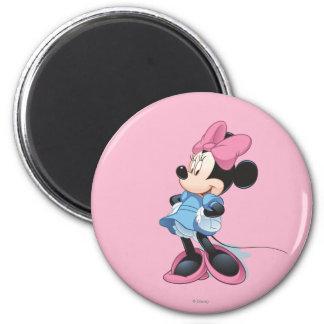 Manos azules de Minnie el | en caderas Imán Redondo 5 Cm