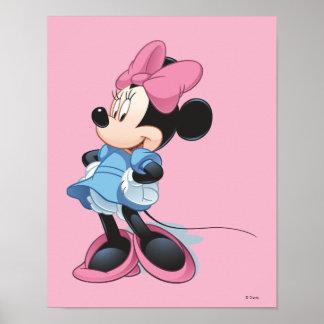 Manos azules de Minnie el | en caderas Póster