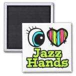 Manos brillantes del jazz del amor del corazón I d Iman De Frigorífico