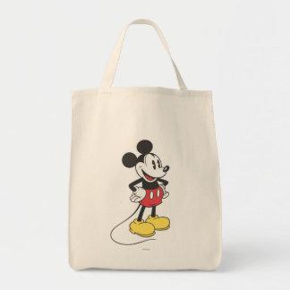 Manos clásicas de Mickey el | en caderas Bolsa Tela Para La Compra
