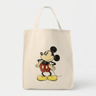 Manos clásicas del vintage de Mickey el | en Bolsa Tela Para La Compra