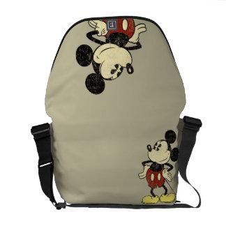 Manos clásicas del vintage de Mickey el | en Bolsas De Mensajeria