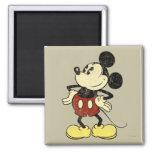 Manos clásicas del vintage de Mickey el   en Imán Cuadrado