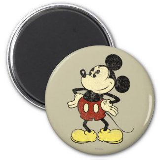 Manos clásicas del vintage de Mickey el | en Imán Redondo 5 Cm