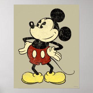 Manos clásicas del vintage de Mickey el | en Póster