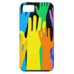 Manos coloridas iPhone 5 fundas