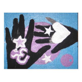 manos curativas hechas por RIMA y Sonja Tarjeta Postal