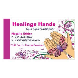 Manos curativas - negocio Card2 Tarjetas De Negocios