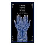 Manos de la alheña de la porcelana tarjetas de visita