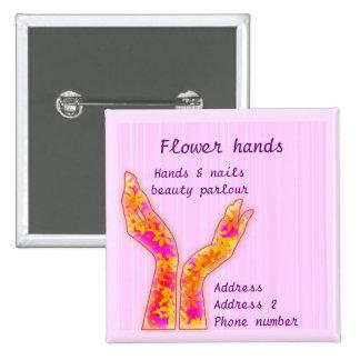 manos de la flor pin cuadrada 5 cm