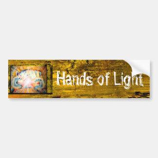 Manos de la luz pegatina para auto