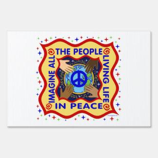 Manos de la paz carteles