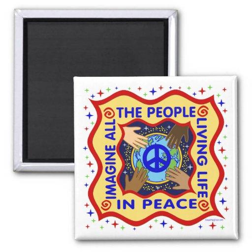 Manos de la paz imán