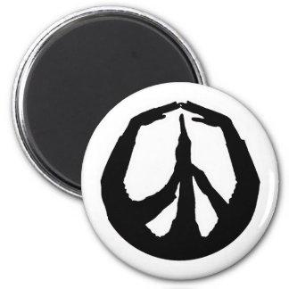 Manos de la paz imán redondo 5 cm
