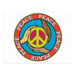 Manos de la paz postal