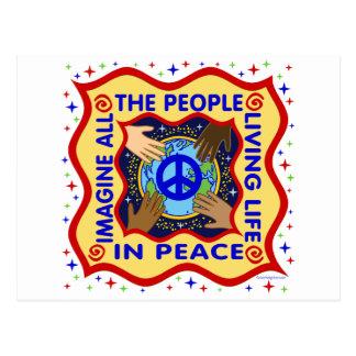 Manos de la paz postales