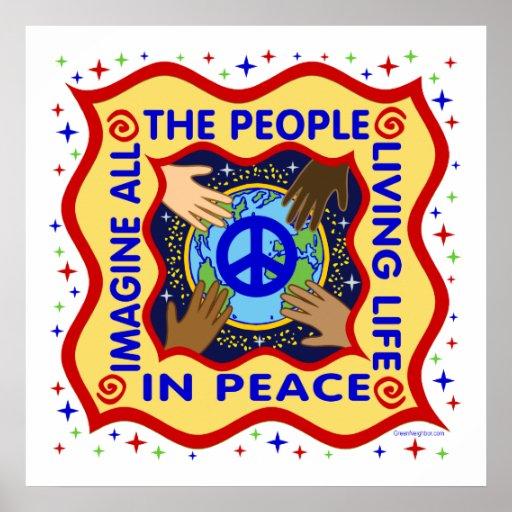 . Manos de la paz Póster