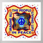. Manos de la paz Posters
