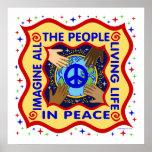 Manos de la paz posters