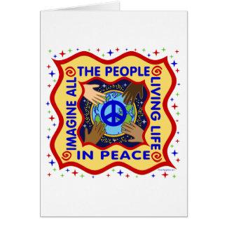 Manos de la paz tarjeta de felicitación