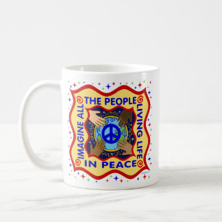 Manos de la paz taza