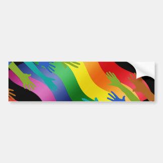 Manos de LGBT en bandera Pegatina Para Auto
