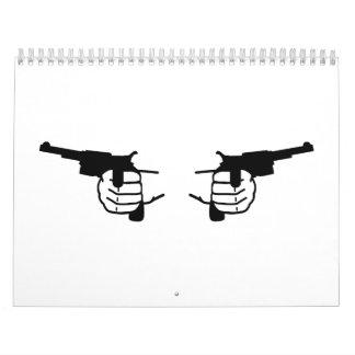 Manos de los armas calendarios de pared