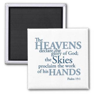 Manos de los cielos iman de frigorífico