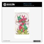 Manos de Lotus Skins Para eliPhone 4S