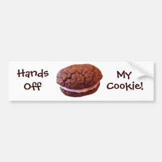 Manos de mi galleta etiqueta de parachoque