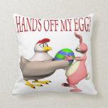 Manos de mi huevo almohadas