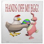 Manos de mi huevo servilleta