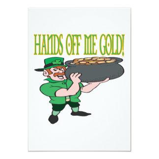 Manos de mí oro invitación 12,7 x 17,8 cm