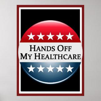 Manos de mi poster de la atención sanitaria