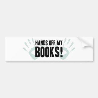 Manos de mis libros etiqueta de parachoque