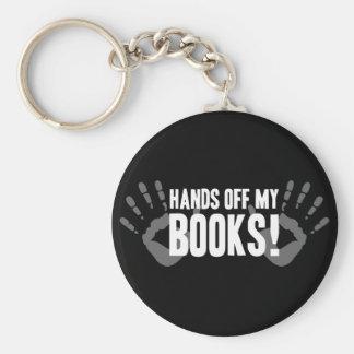 Manos de mis libros llavero redondo tipo pin