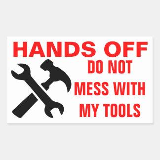 Manos de mis pegatinas de las herramientas rectangular altavoces