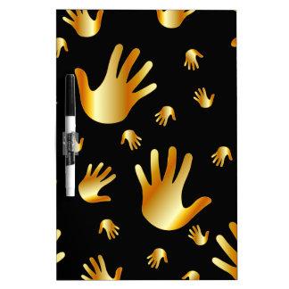 manos de oro tableros blancos