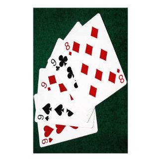 Manos de póker - cuatro de una clase - Nines y Flyer Personalizado