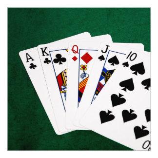 Manos de póker - derecho - as a diez fotografías