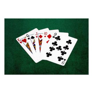 Manos de póker - derecho - rey To nueve Fotografía
