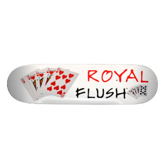 Manos de póker - escalera real tabla de patinar