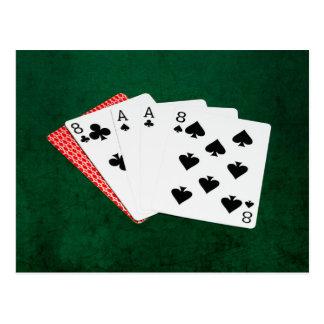 Manos de póker - la mano del hombre muerto postal